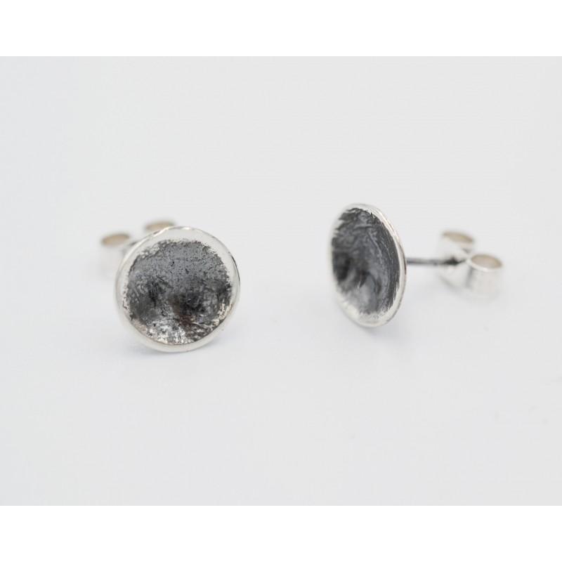 SallyB double heart silver pendant