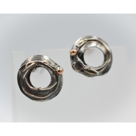 SallyB triple heart silver pendant