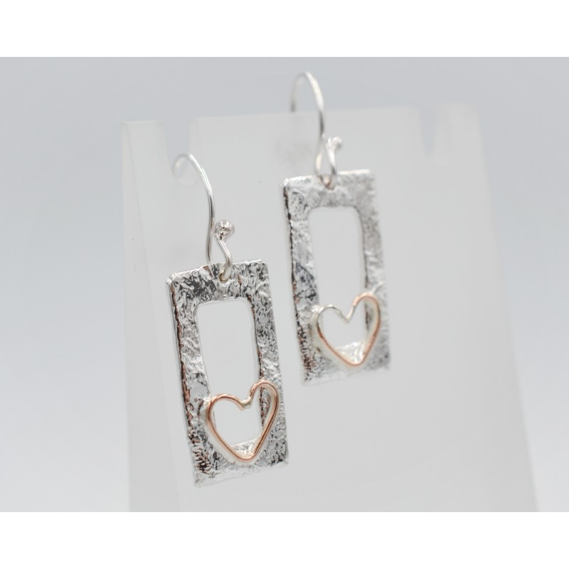 SallyB short drop silver earrings