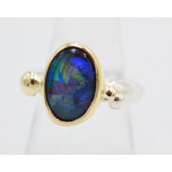 Oystercatcher oval stud earring