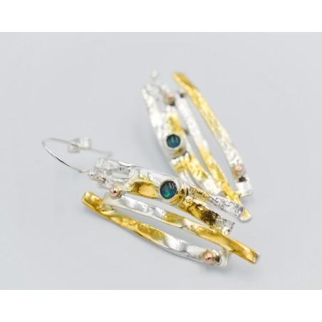 9ct gold slim raw diamond ring