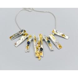 SallyB chunky silver gemdrop pendant