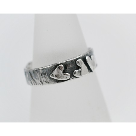 Oystercatcher oxidised silver wide torque bangle