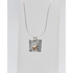 Cascade oxidised silver small drop earring