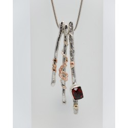 Seawrack silver drop earrings