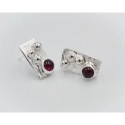 Seawrack silver stud earring