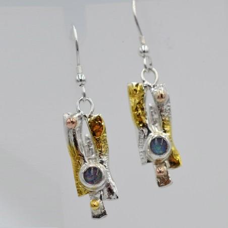 Nidula double drop earrings