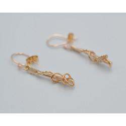 Gold Ivy Twist drop earrings