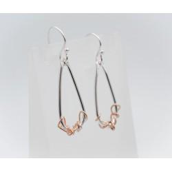 Ivy Twist teardrop earrings