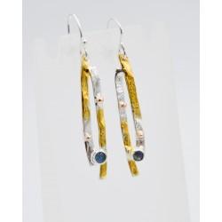 Cornfield slim drop earrings