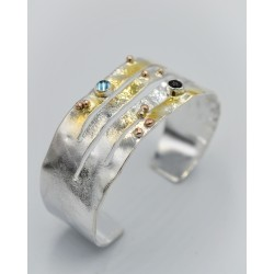 Cornfield torque bangle 2cm...