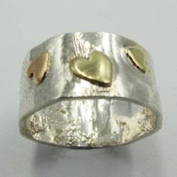 SallyB Rose Heart ring