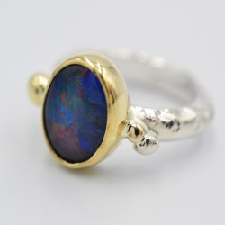 Pebbles large gemstone ring