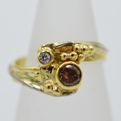 18ct gold and diamond...