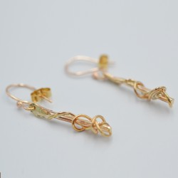 Gold Ivy Twist drop earrings