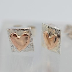SallyB Rose Heart chunky studs