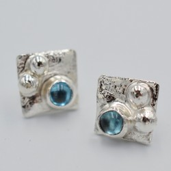 Clouded Pool square studs