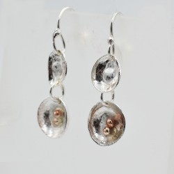 Rockpool silver drop earrings