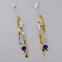 Cornfield slim drop earrings