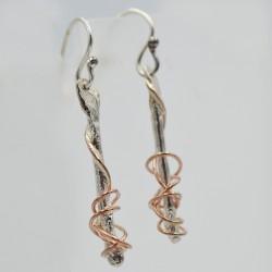 Ivy Twist drop earrings