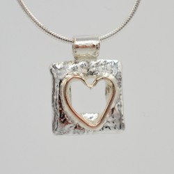 Window Heart pendant