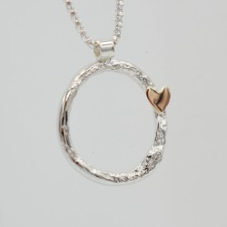 SallyB ring and heart pendant