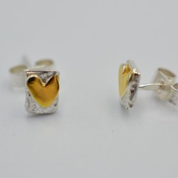 SallyB Heart stud earrings