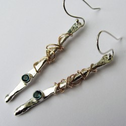 Twffa long twist earrings