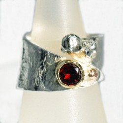 Aloe silver overlap ring