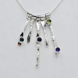 DewDrop silver and gemstone...