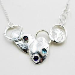 Botanical silver necklace...