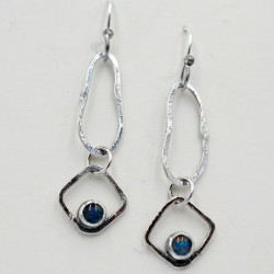 Oxidised  silver and Opal