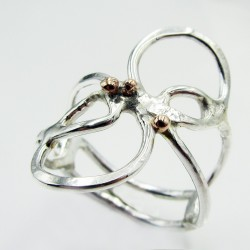 Silver and gold Botanical ring