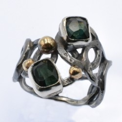 Tourmaline Oxidised silver...