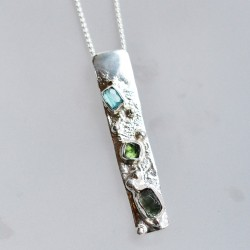 Rockpool long pendant with...