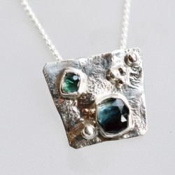 Silver and Tourmaline...